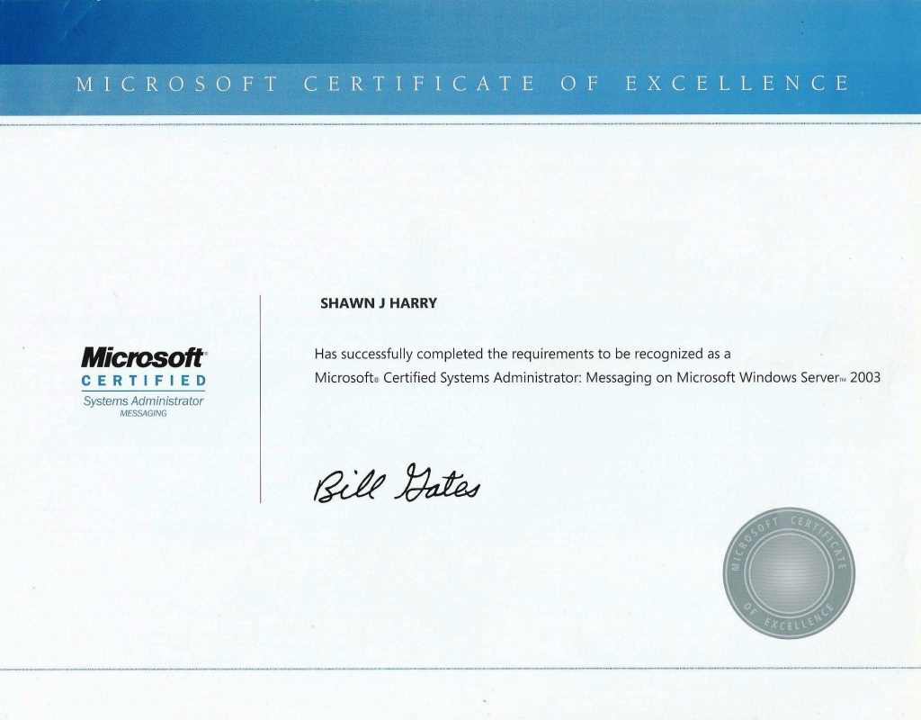 Microsoft Certified Systems Administrator