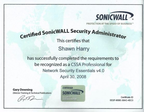 Certified SonicWall Security Administrator