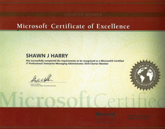 Microsoft Certified Enterprise Messaging Administrator