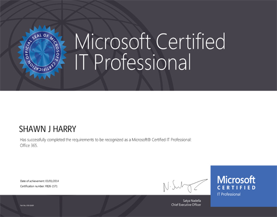 Micorsoft Certified IT Professional