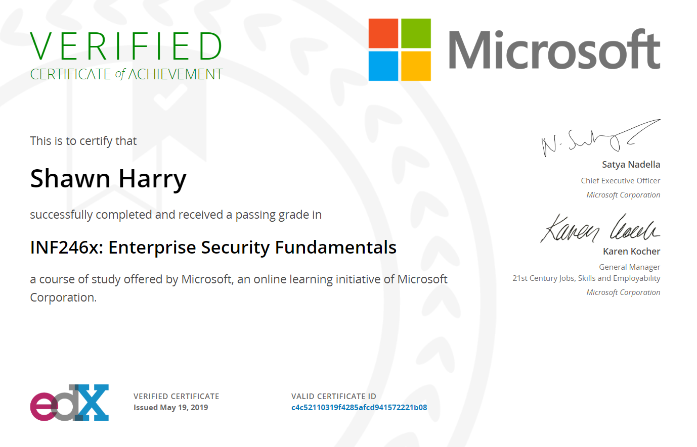 Microsoft Enterprise Security Fundamentals