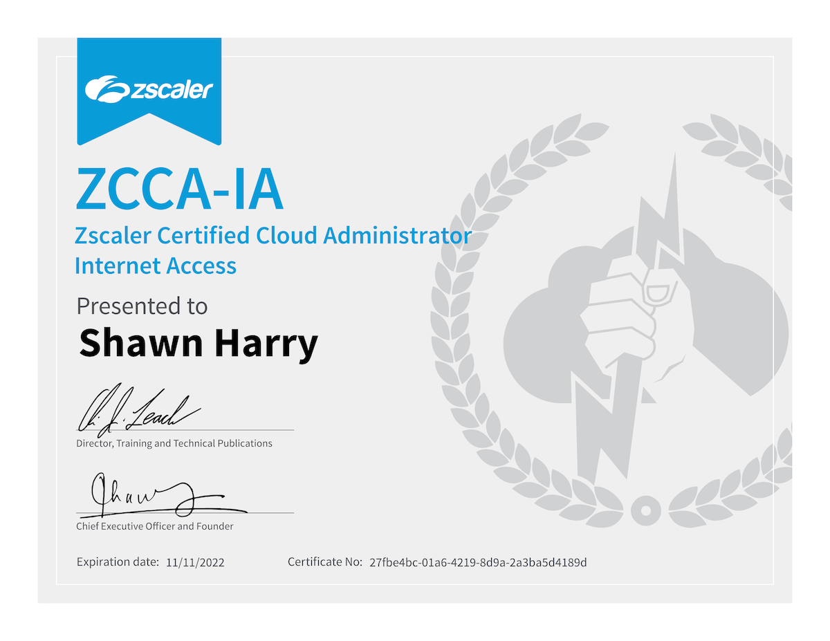 Zscaler Certified Cloud Administrator Internet Access